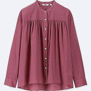 WOMEN SOFT COTTON LONG-SLEEVE BLOUSE/us/en/women-soft-cotton-long-sleeve-blouse-411019.html