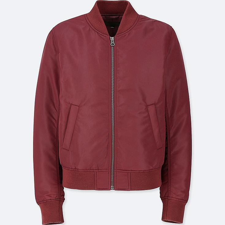WOMEN MA-1 BOMBER JACKET (ONLINE EXCLUSIVE), WINE, large