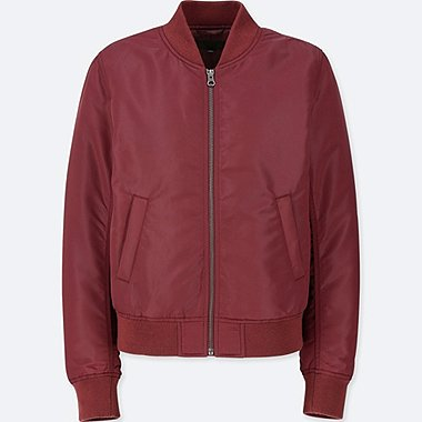 WOMEN MA-1 BOMBER JACKET (ONLINE EXCLUSIVE), WINE, medium