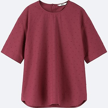 WOMEN EXTRA FINE COTTON SHORT SLEEVED BLOUSE