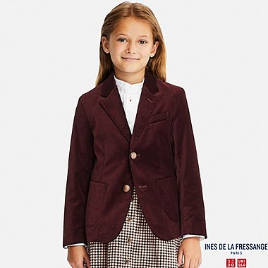 KIDS VELVET JACKET (INES DE LA FRESSANGE), WINE, medium