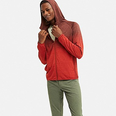 MEN DRY-EX LONG-SLEEVE FULL-ZIP HOODIE, WINE, medium