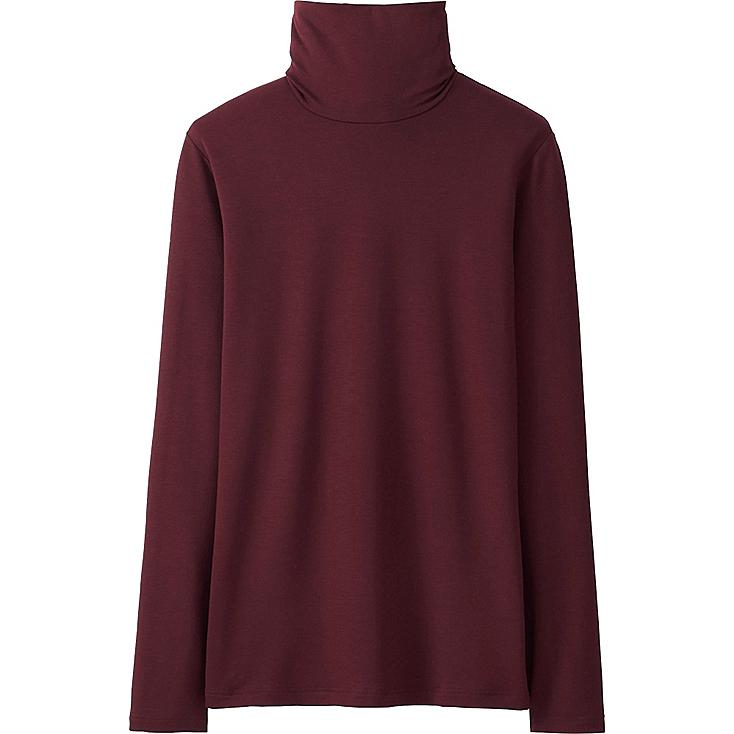 Women heattech extra warm turtleneck t shirt uniqlo us for Turtleneck under t shirt