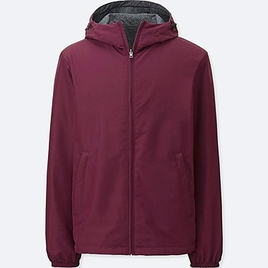 MEN REVERSIBLE PARKA, WINE, medium