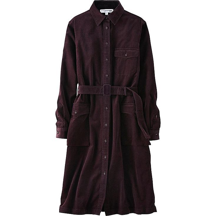 WOMEN Ines Corduroy Long Sleeve Dress