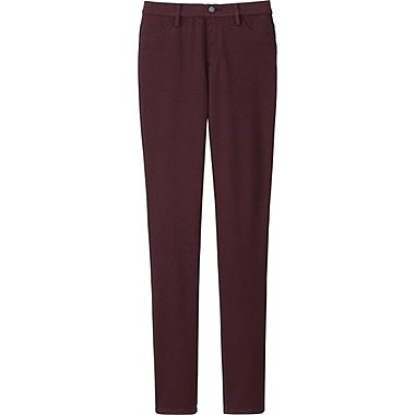 WOMEN LEGGINGS PANTS, WINE, medium