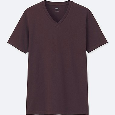 MEN Supima® COTTON V-NECK SHORT-SLEEVE T-SHIRT, WINE, medium