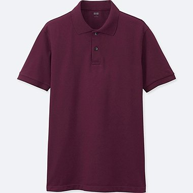 MEN DRY PIQUE SHORT-SLEEVE POLO SHIRT, WINE, medium