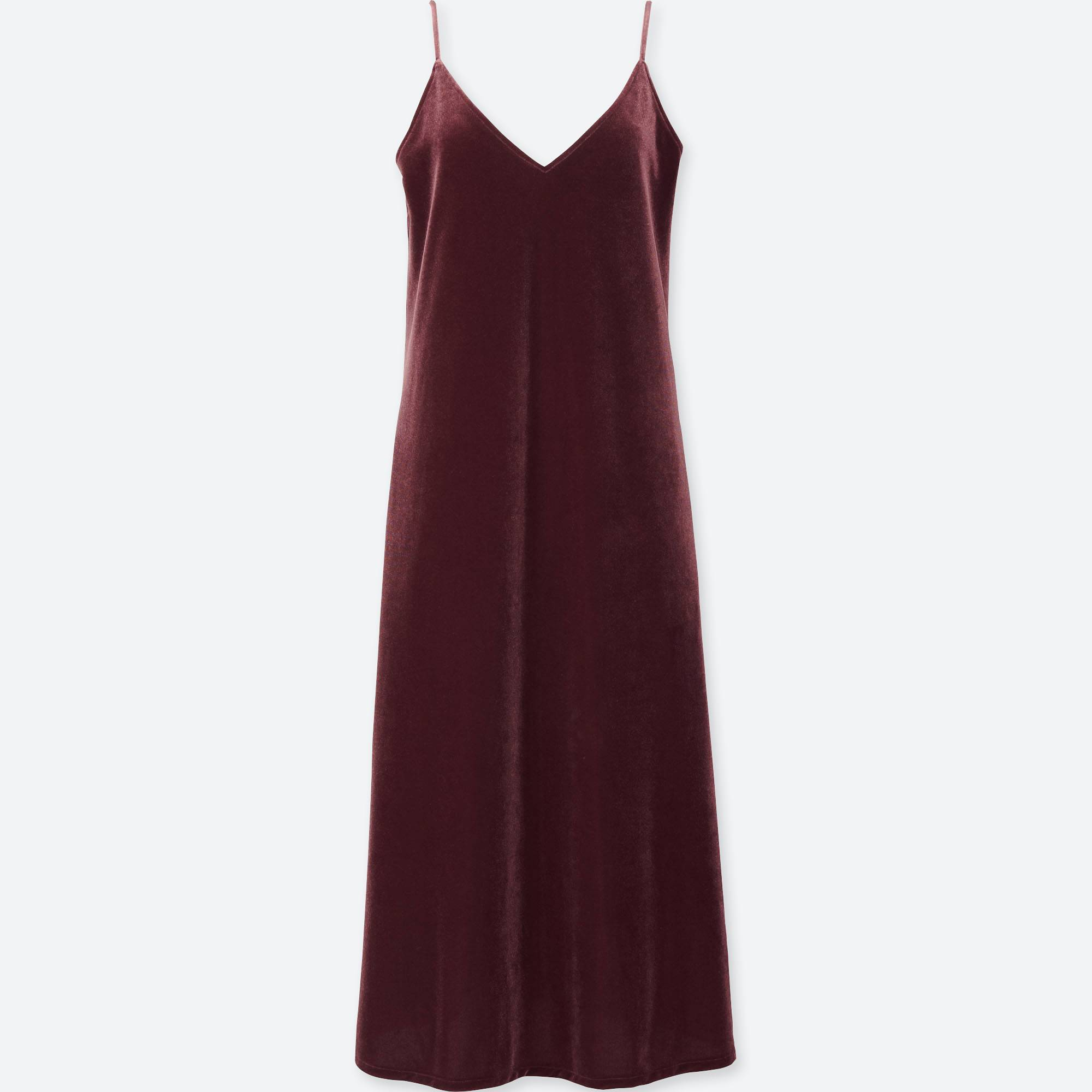 4dd5267ea691 WOMEN VELOUR CAMISOLE DRESS, WINE, large