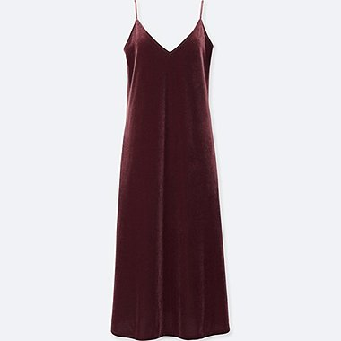 WOMEN VELOUR CAMISOLE DRESS