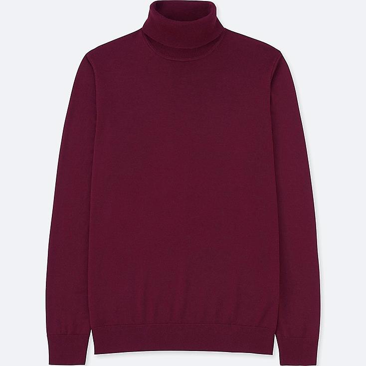 Jersey Cuello Vuelto de lana extra fina de merino HOMBRE