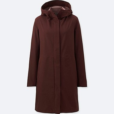 WOMEN BLOCKTECH COAT, WINE, medium