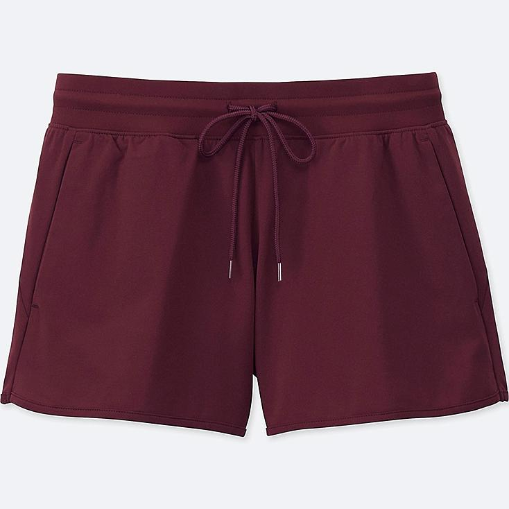 WOMEN DRY-EX ULTRA STRETCH SHORTs, WINE, large