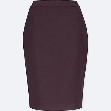 WOMEN HIGH WAIST WOOL BLENDED PENCIL SKIRT