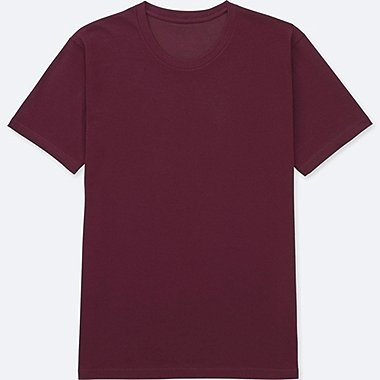 MEN PACKAGED DRY CREWNECK SHORT-SLEEVE T-SHIRT, WINE, medium