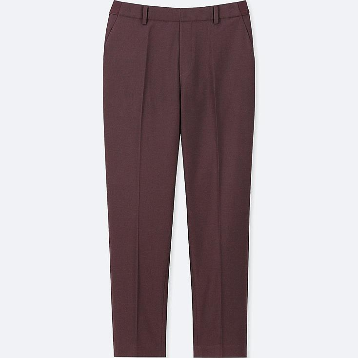 WOMEN EZY ANKLE-LENGTH PANTS, WINE, large