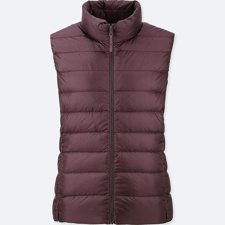 WOMEN ULTRA LIGHT DOWN VEST, WINE, large