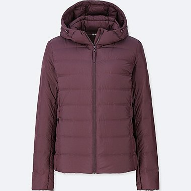 WOMEN ULTRA LIGHT DOWN HOODED SEAMLESS PARKA