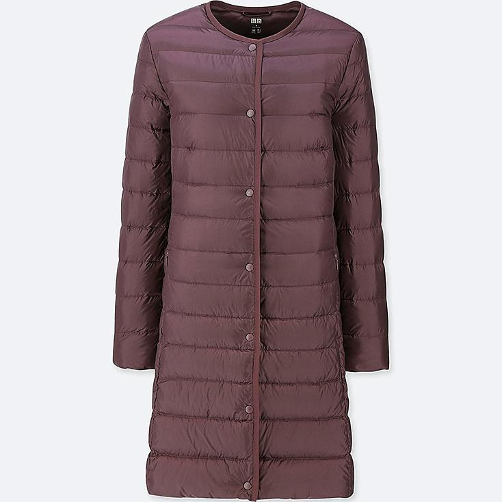 WOMEN ULTRA LIGHT DOWN COMPACT COAT, WINE, large