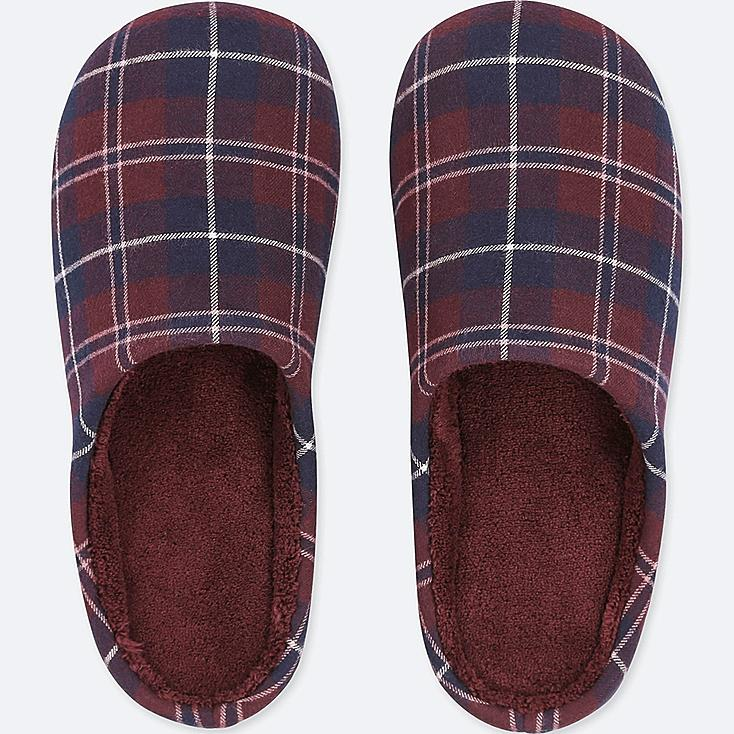 PATTERNED SLIPPERS, WINE, large