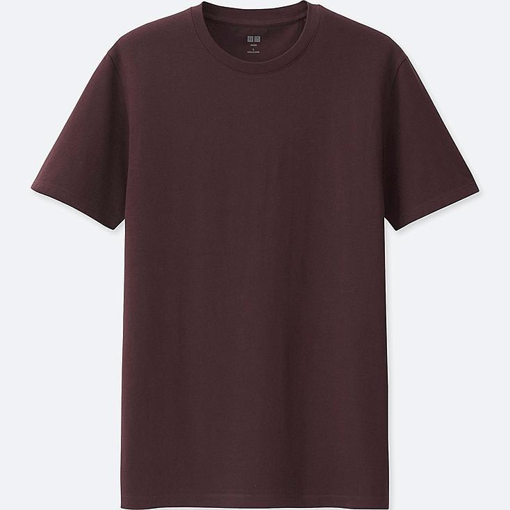 MEN SUPIMA® COTTON CREW NECK SHORT-SLEEVE T-SHIRT, WINE, large
