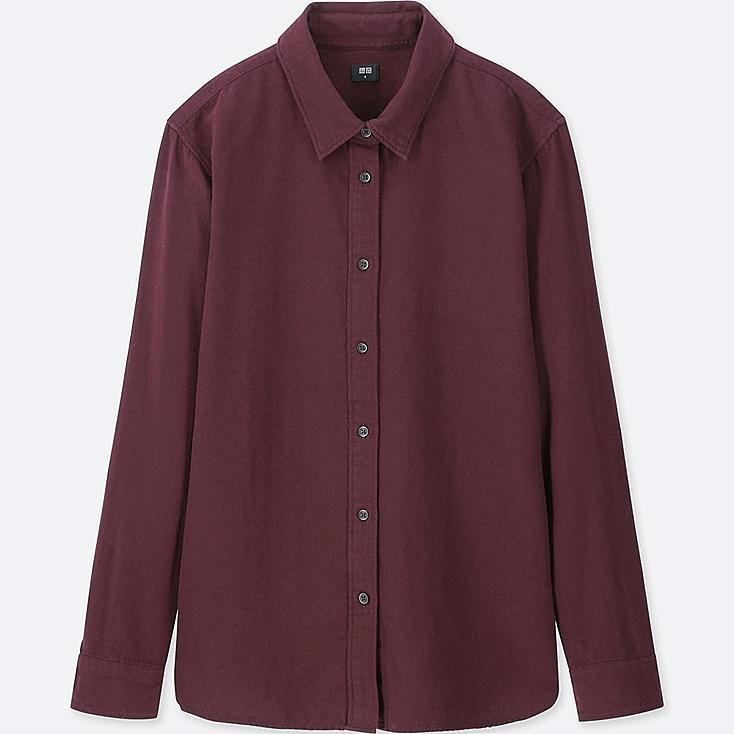 WOMEN Flannel Long Sleeve Shirt at UNIQLO in Brooklyn, NY | Tuggl