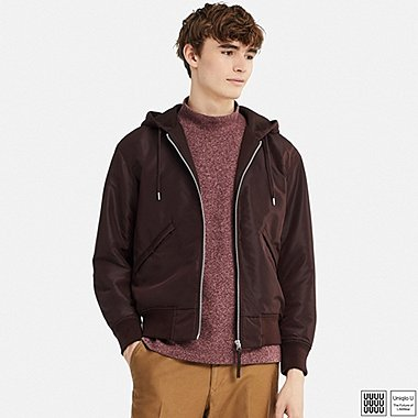 MEN UNIQLO U MILITARY HOODED BLOUSON