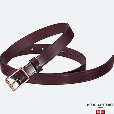 WOMEN INES GLOSS LEATHER BELT