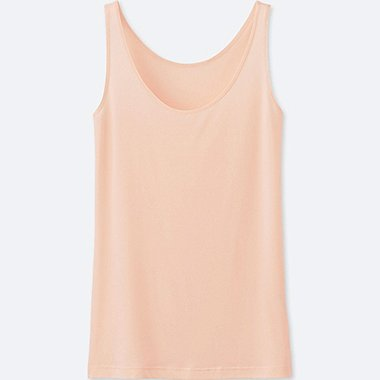 WOMEN AIRism SLEEVELESS TOP, LIGHT ORANGE, medium