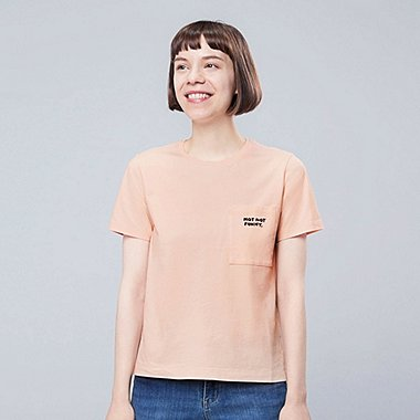 WOMEN Miranda July SHORT-SLEEVE GRAPHIC T-SHIRT, LIGHT ORANGE, medium