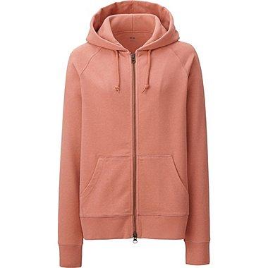 Womens Zip-Up Hoodie, LIGHT ORANGE, medium