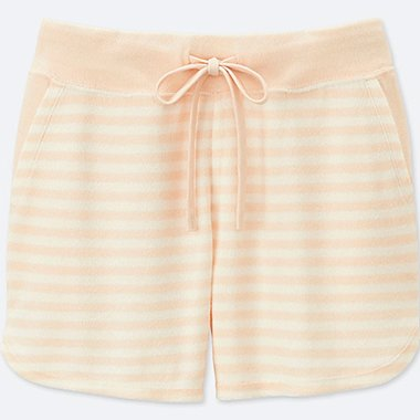 WOMEN AIRism Pile Lounge Shorts (Stripe)