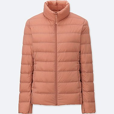 Women Ultra Light Down Jacket, LIGHT ORANGE, medium
