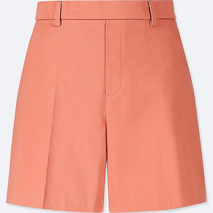 WOMEN SATIN SHORTS, LIGHT ORANGE, large