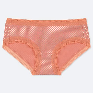 WOMEN HIPHUGGER DOTTED PRINT BRIEFS