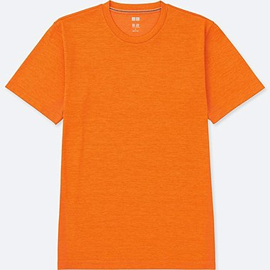 MEN DRY-EX CREWNECK SHORT-SLEEVE T-SHIRT, ORANGE, medium