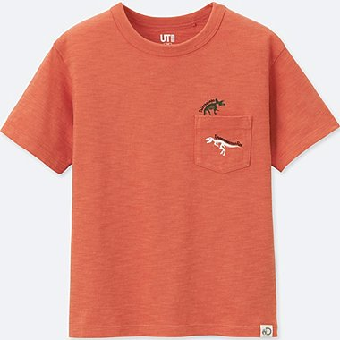 KIDS Discovery Channel SHORT-SLEEVE GRAPHIC T-SHIRT, ORANGE, medium