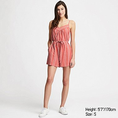 DAMEN PLAYSUIT AUS LEINEN-MIX