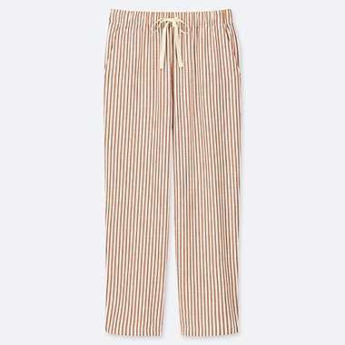 e92eab2e53f WOMEN RELAX STRIPED ANKLE LENGTH TROUSERS