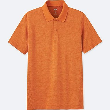 MEN DRY EX SHORT SLEEVE POLO SHIRT, ORANGE, medium