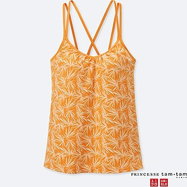WOMEN PRINCESSE tam.tam PRINT FLARE BRA CAMISOLE, ORANGE, medium