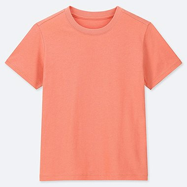 KIDS PACKAGED COLOR CREW NECK SHORT-SLEEVE T-SHIRT, ORANGE, medium
