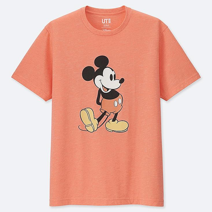 MICKEY STANDS UT (SHORT SLEEVE GRAPHIC T-SHIRT), ORANGE, large