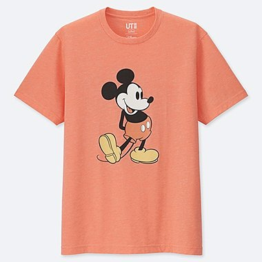 MICKEY STANDS UT (SHORT SLEEVE GRAPHIC T-SHIRT), ORANGE, medium