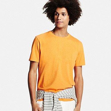 Mens Supima® Cotton Crew Neck T-Shirt, ORANGE, medium