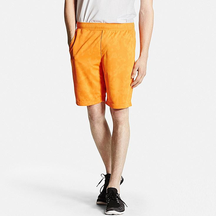 Men DRY-EX Printed Shorts, ORANGE, large