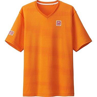 Mens Kei Nishikori DRY-EX T-Shirt 16AUS, ORANGE, medium