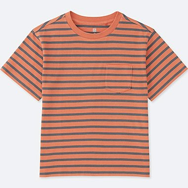 BOYS Striped Pocket Crew Neck T-Shirt