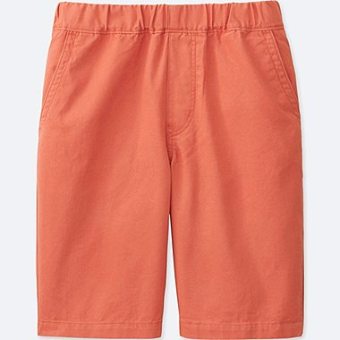 BOYS TWILL EASY SHORTS, ORANGE, medium