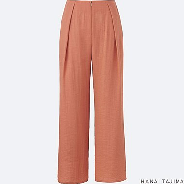 WOMEN Hana Tajima Crepe Wide Leg Trousers